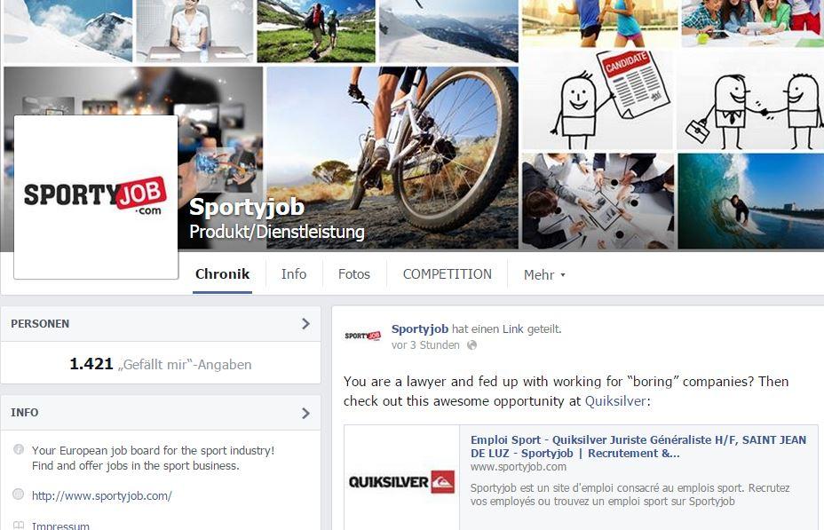 facebook sportyjob