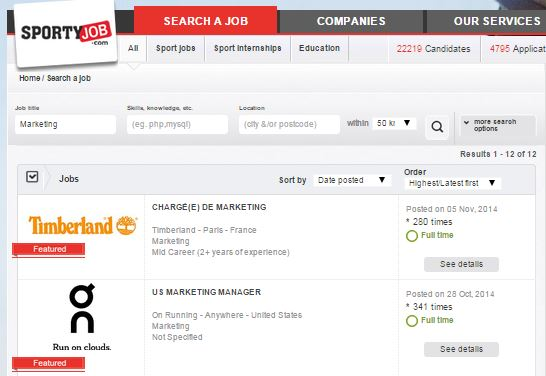 searchmarketing sportyjob